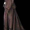 Robe Second Empire en soie marron