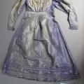 Robe fin XIXe  en soie
